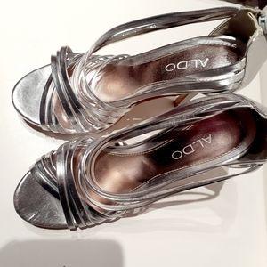 High heels woman Silver sandals